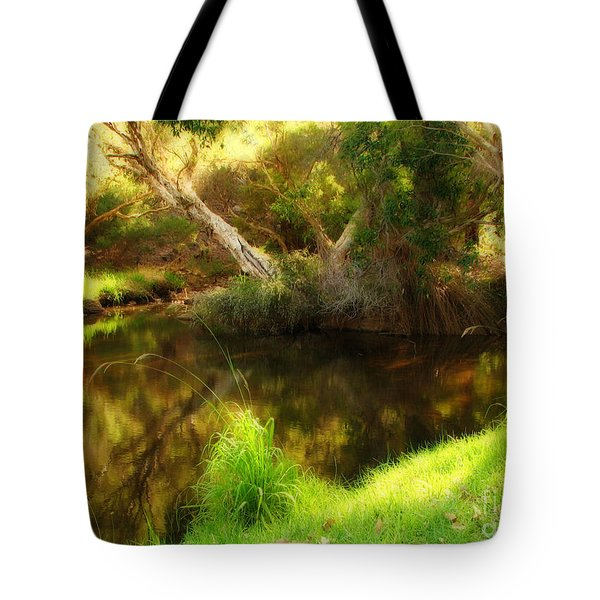 Golden Pond Tote Bag by Michelle Wrighton