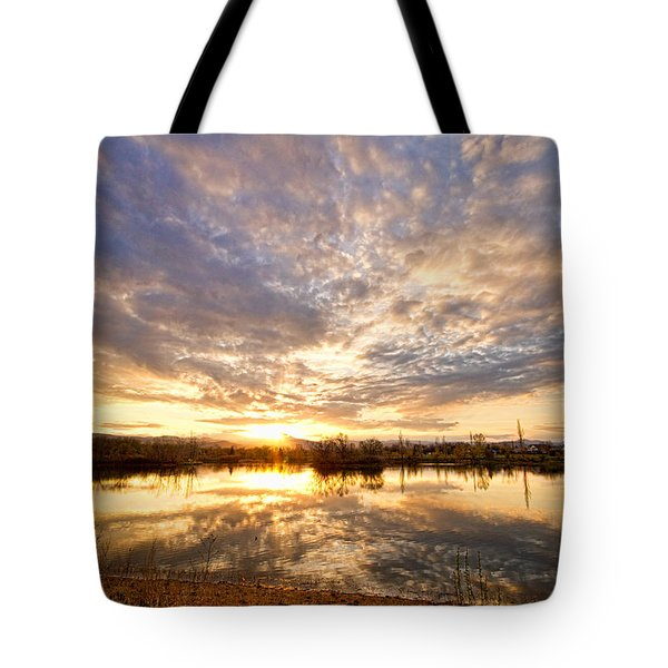 Golden Ponds Scenic Sunset Reflections Tote Bag by James BO  Insogna