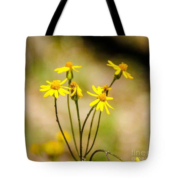 Golden Ragwort Tote Bag
