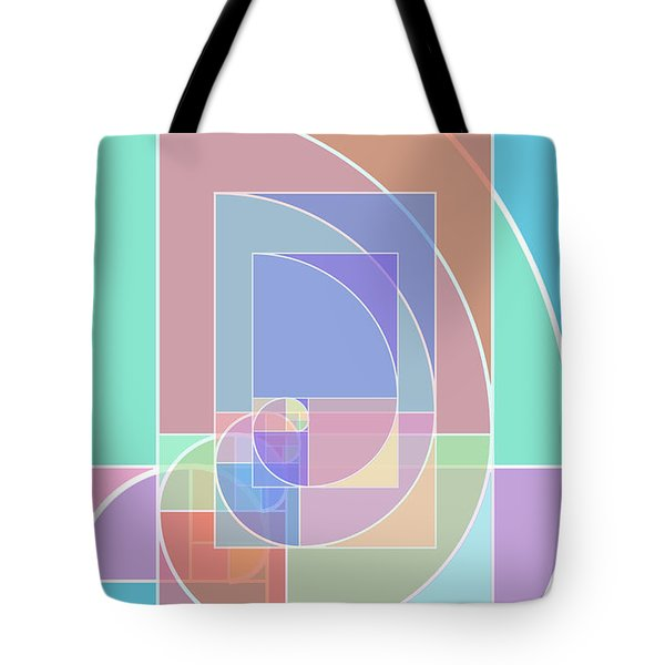 Golden Ratio Abstract Tote Bag