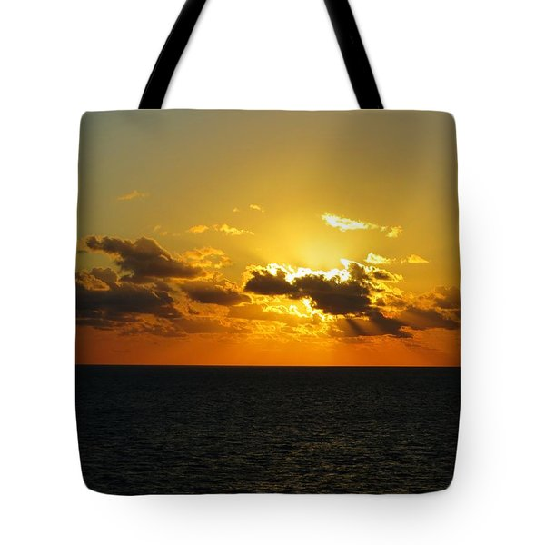 Tote Bag featuring the photograph Golden Rays Sunset by Jennifer Wheatley Wolf