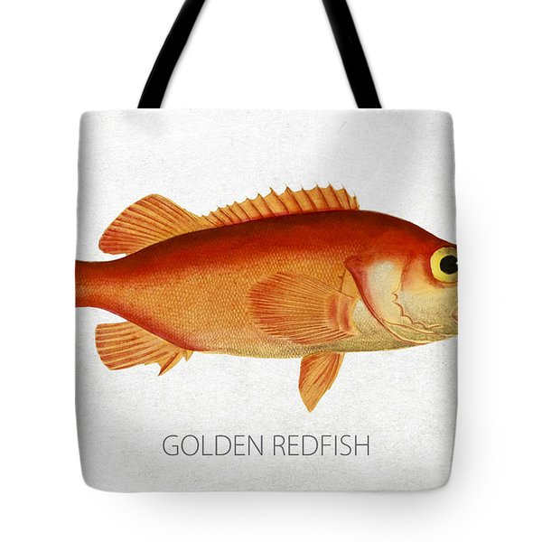 Golden Redfish Tote Bag by Aged Pixel