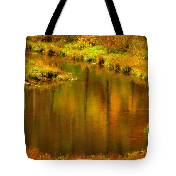Golden Reflections Tote Bag by Karen Shackles