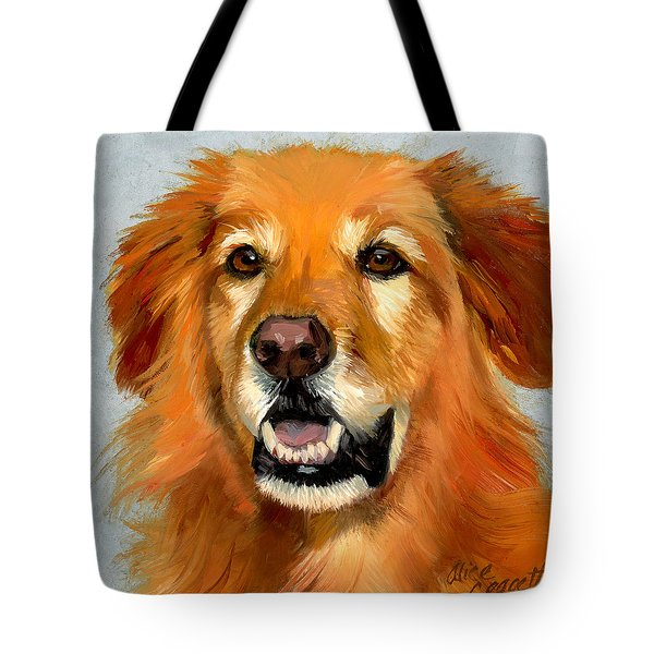 Golden Retriever Dog Tote Bag by Alice Leggett