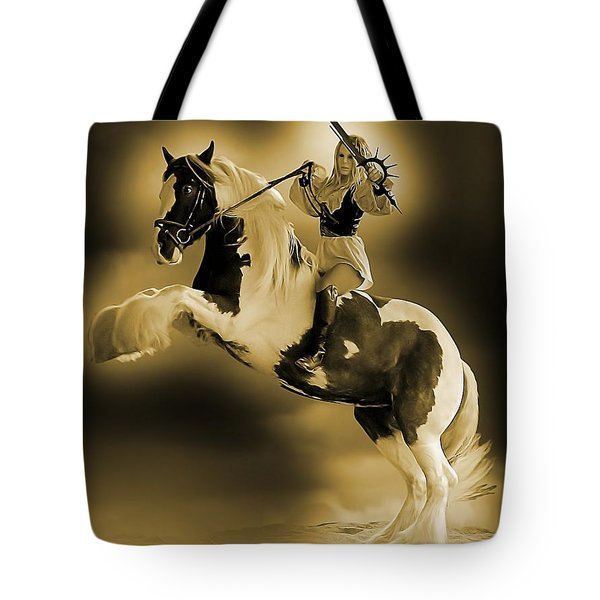 Golden Rider Tote Bag