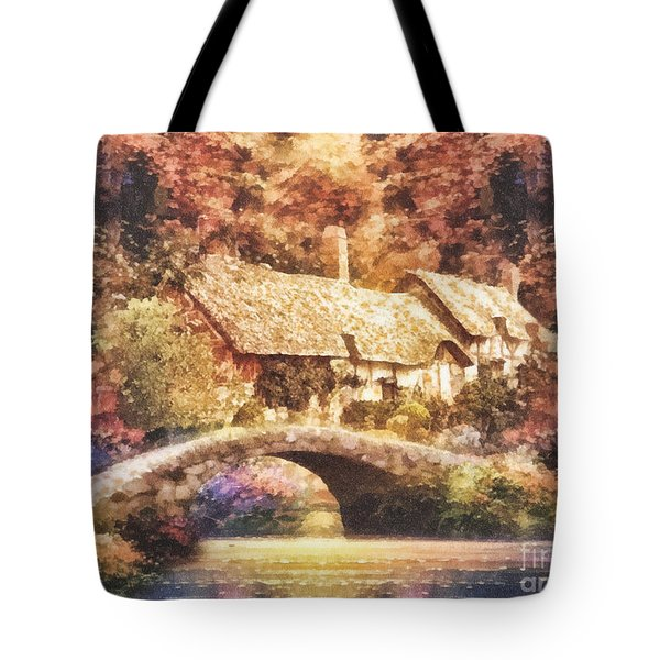 Golden Ripple Tote Bag by Mo T