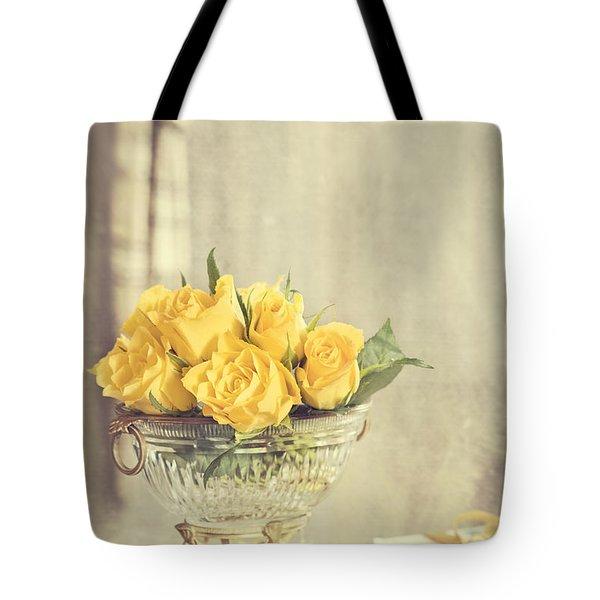 Golden Roses Tote Bag