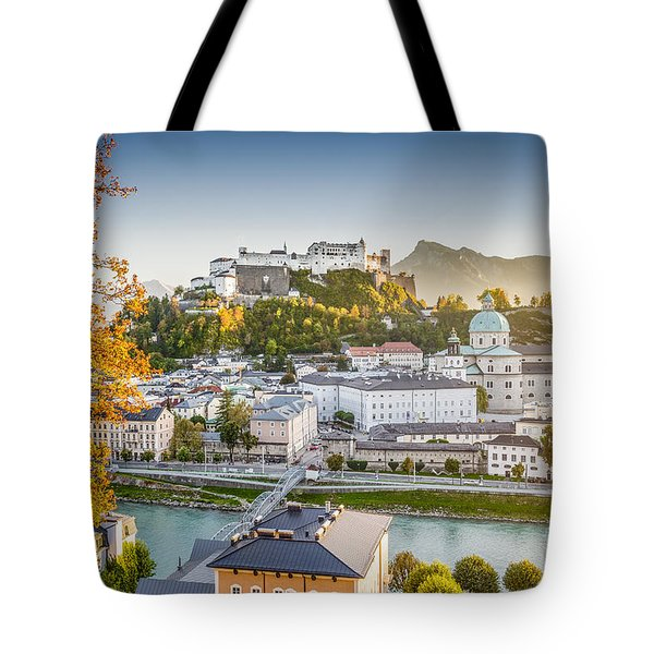 Golden Salzburg Tote Bag by JR Photography