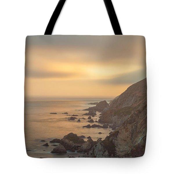 Golden Seashore Tote Bag