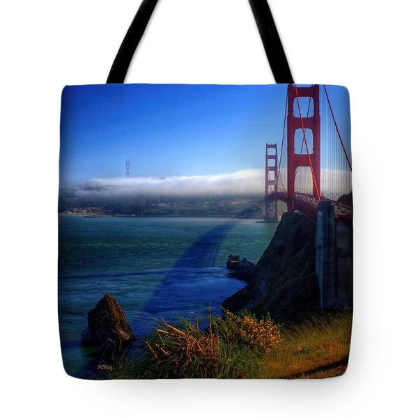Golden Shadow Tote Bag by Patrick Witz