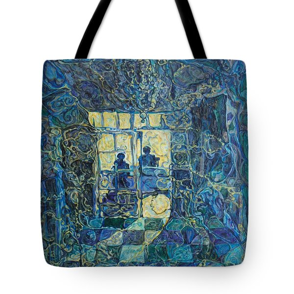 Golden Shadows Tote Bag