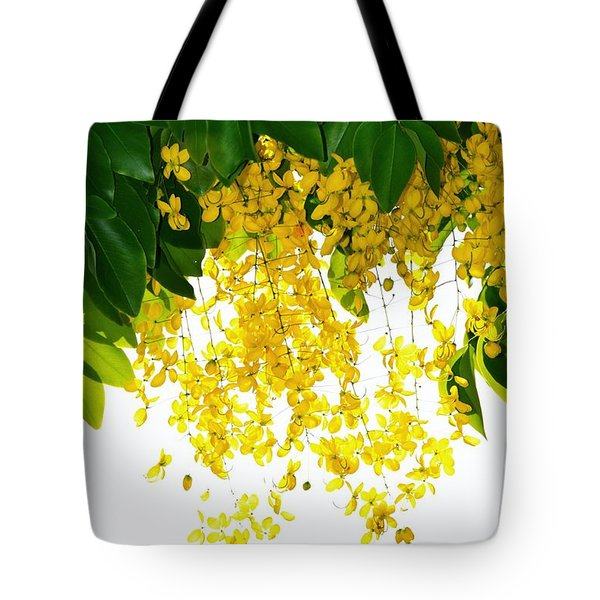 Golden Showers Flowers Tote Bag by Darla Wood