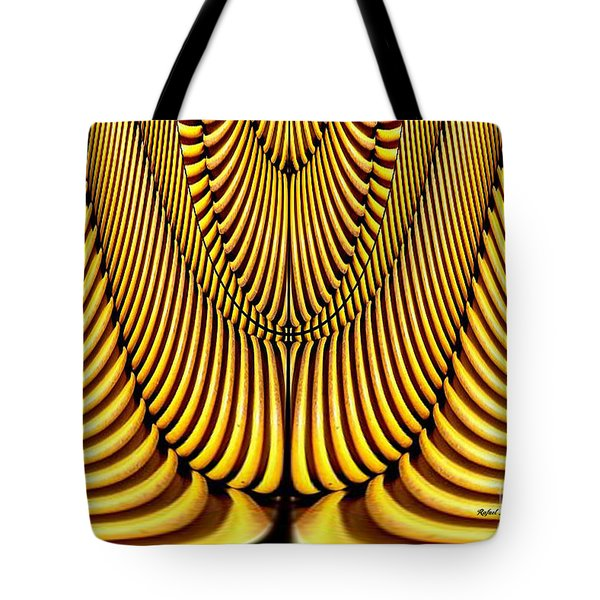 Tote Bag featuring the painting Golden Slings by Rafael Salazar