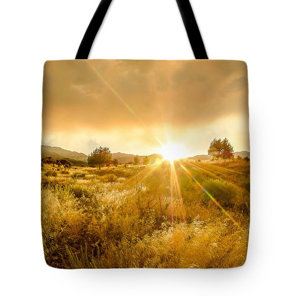 Golden Smoke Tote Bag