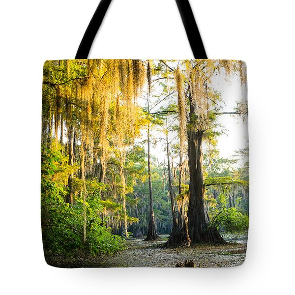 Golden Spanish Moss Tote Bag