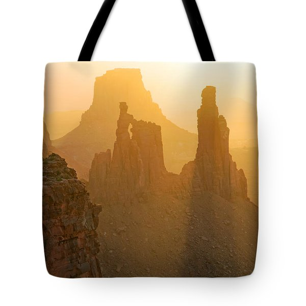 Golden Spires Tote Bag