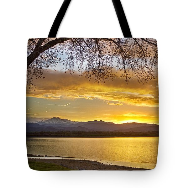 Golden Spring Time Twin Peaks Sunset View Tote Bag by James BO  Insogna