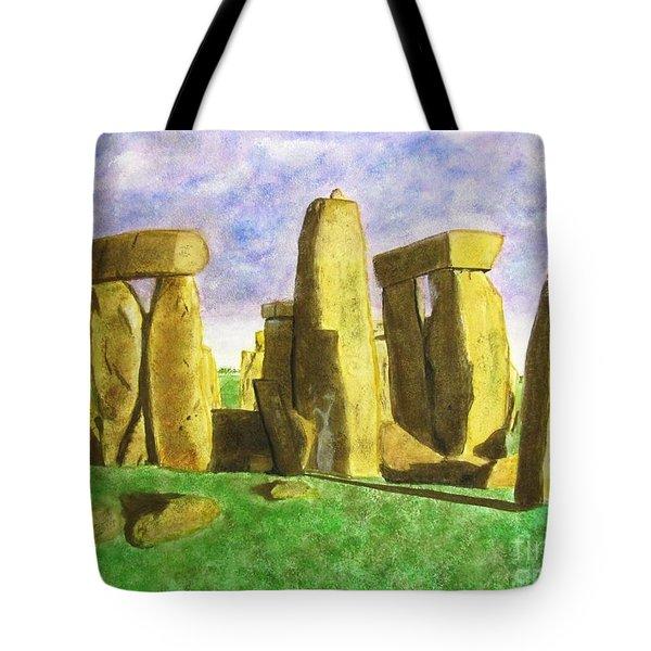 Golden Stonehenge Tote Bag