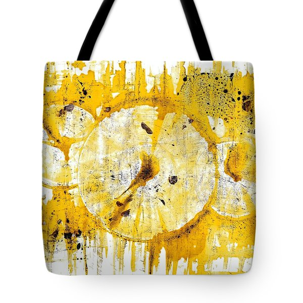 Tote Bag featuring the painting Golden Sun Rise - 1290.121912 by Kris Haas