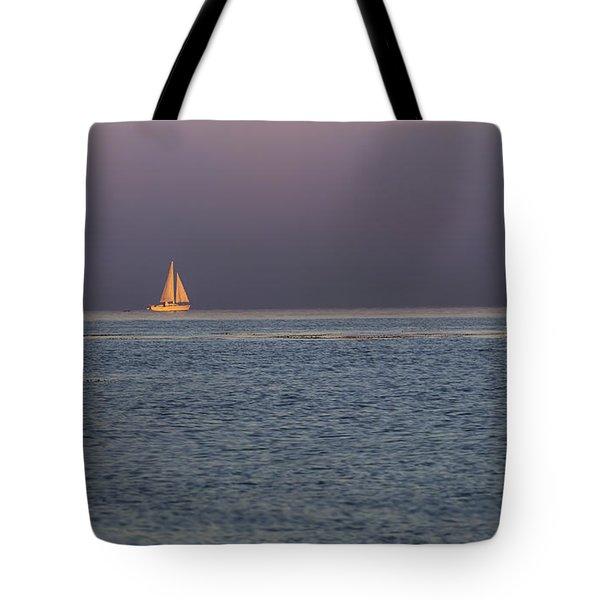 Golden Sunrise Sails By Denise Dube Tote Bag