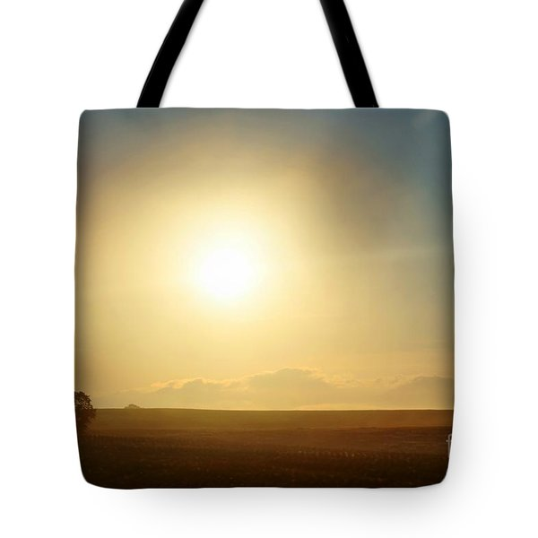 Tote Bag featuring the photograph Golden Sunset by Judy Palkimas