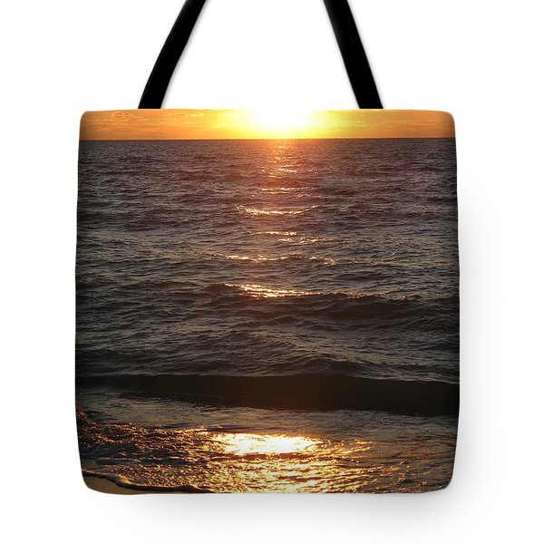 Tote Bag featuring the photograph Golden Sunset At Destin Beach by Christiane Schulze Art And Photography