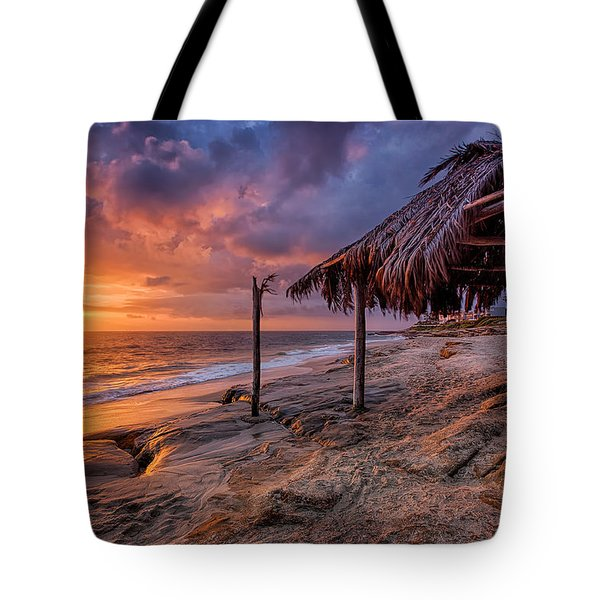 Golden Sunset The Surf Shack Tote Bag
