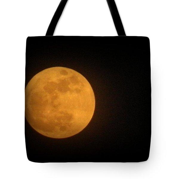 Golden Super Moon Tote Bag