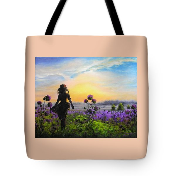 Golden Surrender Tote Bag