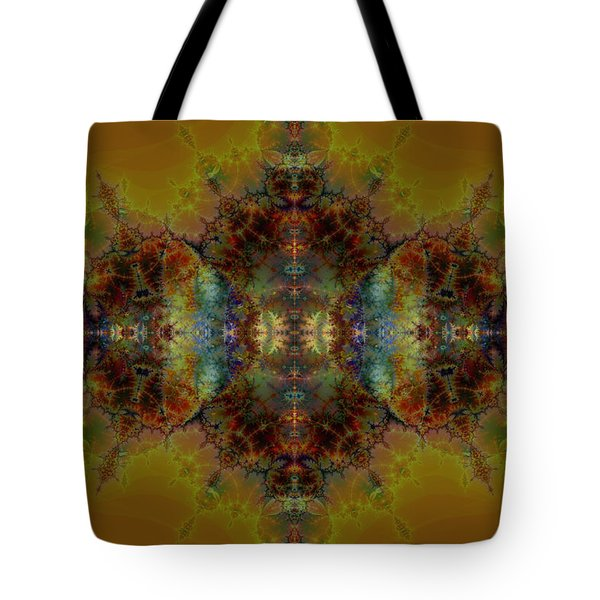 Golden Tapestry Tote Bag