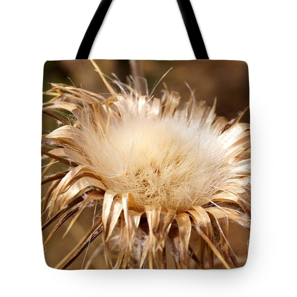 Golden Thistle Tote Bag