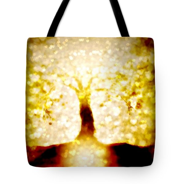 Golden Tree - Center Tote Bag