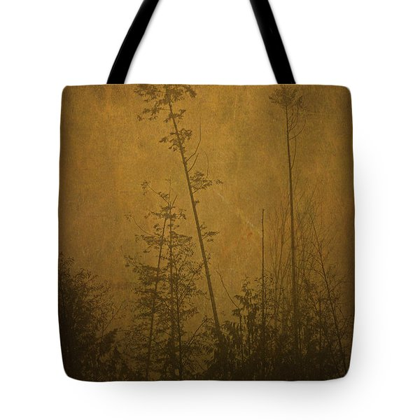Tote Bag featuring the photograph Golden Trees In Winter by Peggy Collins