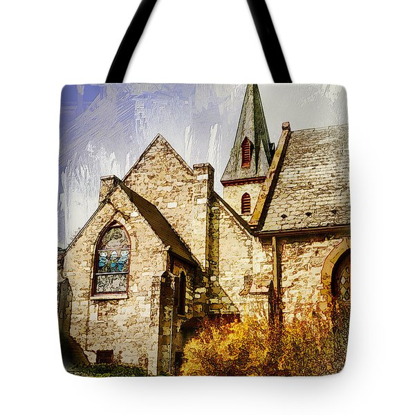 Golden Trinity Tote Bag