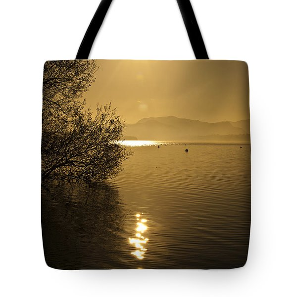 Tote Bag featuring the photograph Golden Ullswater Evening by Meirion Matthias