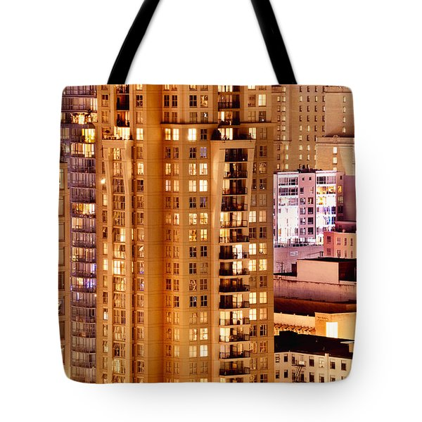 Tote Bag featuring the photograph Golden Vancouver Cityscape Cdxii By Amyn Nasser by Amyn Nasser