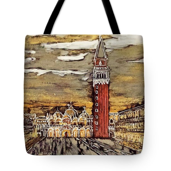 Golden Venice Tote Bag by Jasna Gopic