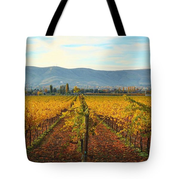 Golden Vineyards Tote Bag