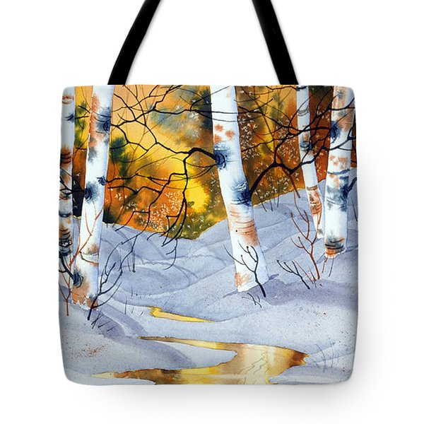 Golden Winter Tote Bag