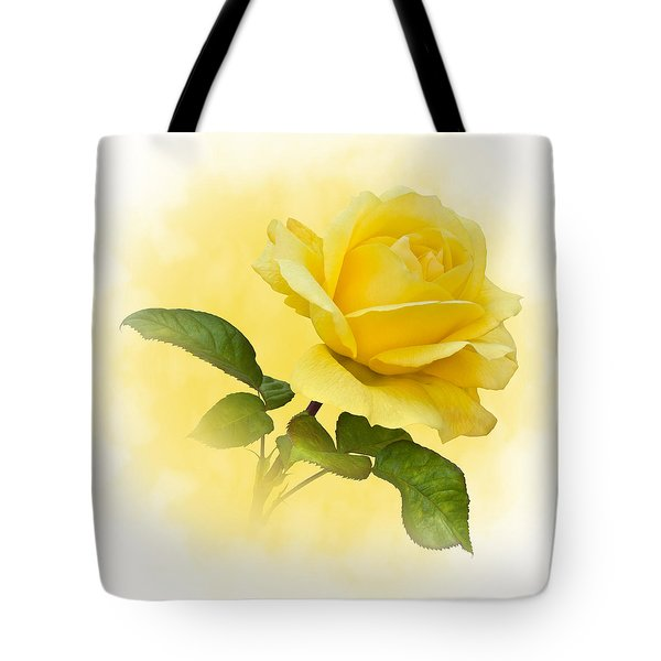 Golden Yellow Rose Tote Bag by Jane McIlroy