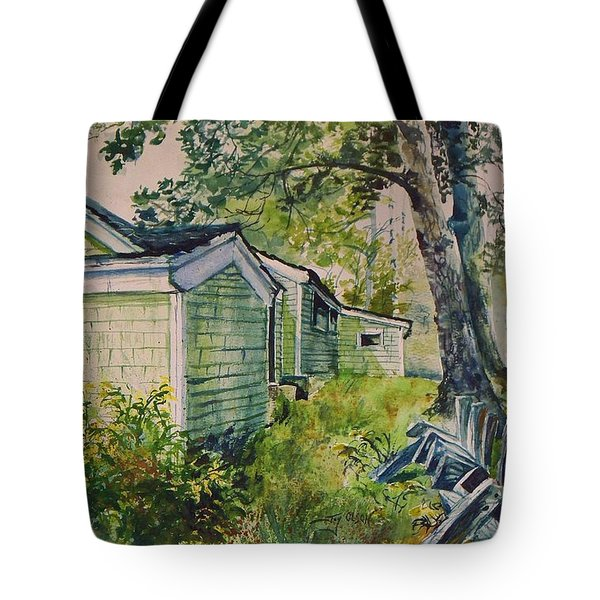 Tote Bag featuring the painting Goldenrod by Joy Nichols