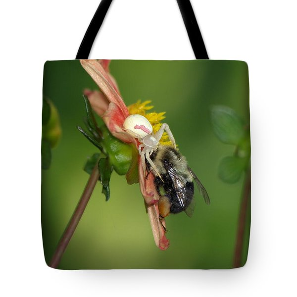 Tote Bag featuring the photograph Goldenrod Spider by James Peterson