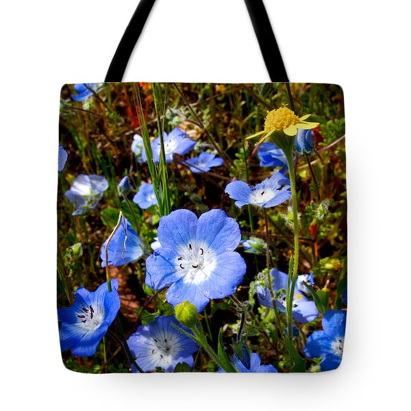 Goldfields And Baby Blue Eyes In Park Sierra-ca Tote Bag by Ruth Hager