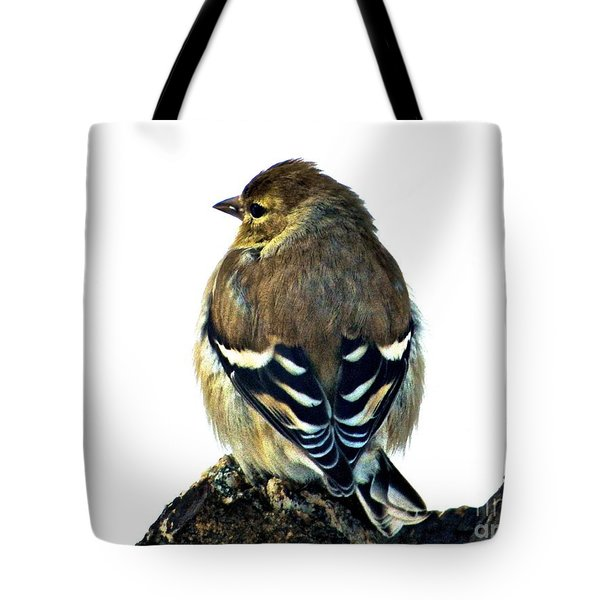 Goldfinch At Sunrise Tote Bag