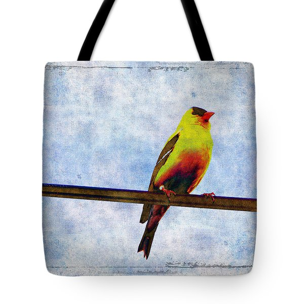 Goldfinch Tote Bag by Cassie Peters