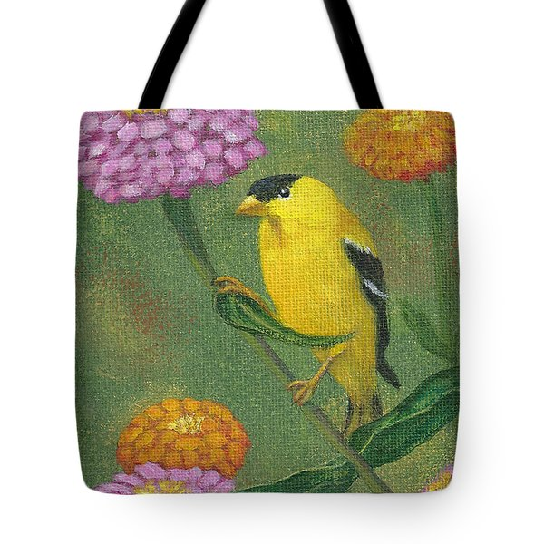 Goldfinch Garden Tote Bag