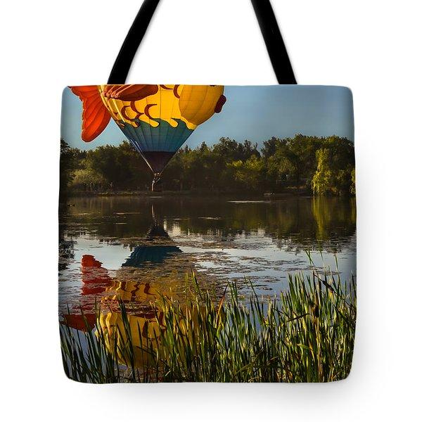 Goldfish Reflection Tote Bag