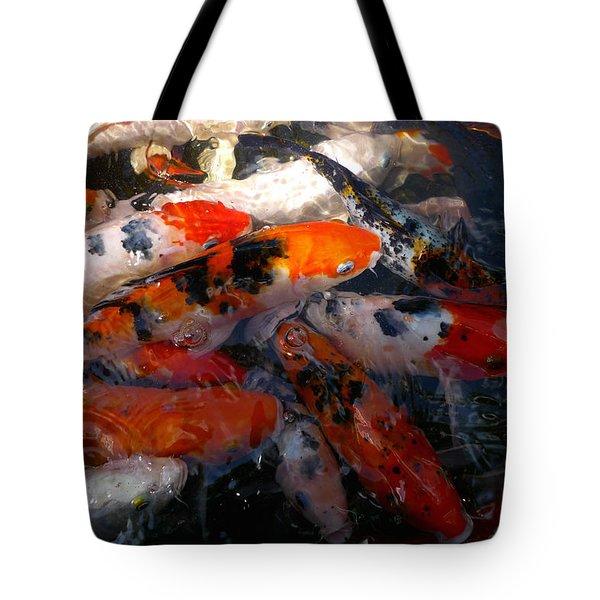 Goldfish Shimmer Tote Bag