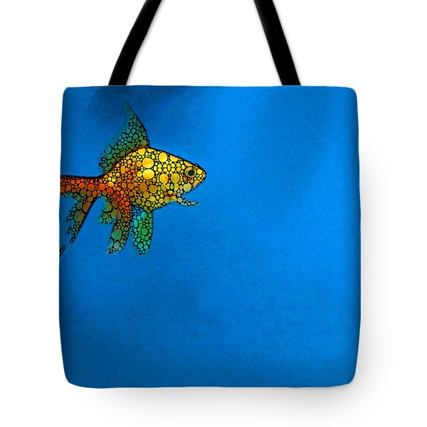 Goldfish Study 4 - Stone Rock'd Art By Sharon Cummings Tote Bag by Sharon Cummings