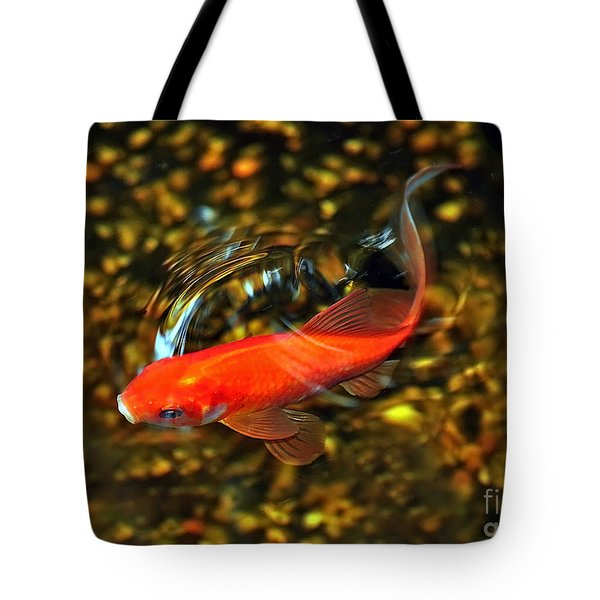Goldfish Swimming Tote Bag
